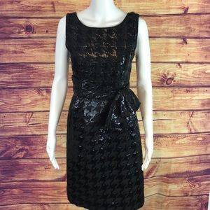 Kate Spade Black Houndstooth Print Coctail